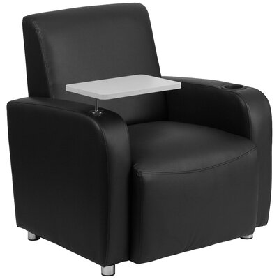 South Perth Leather Guest Chair Color: Black/Light Gary