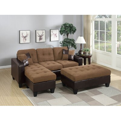 Calhoun Reversible Sleeper Sectional Upholstery: Beige