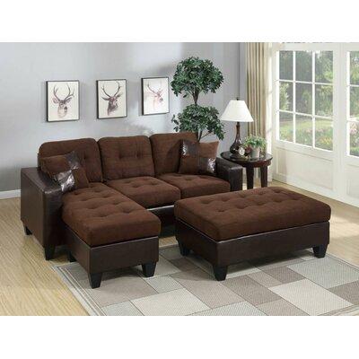 Calhoun Sleeper Sectional Upholstery: Brown