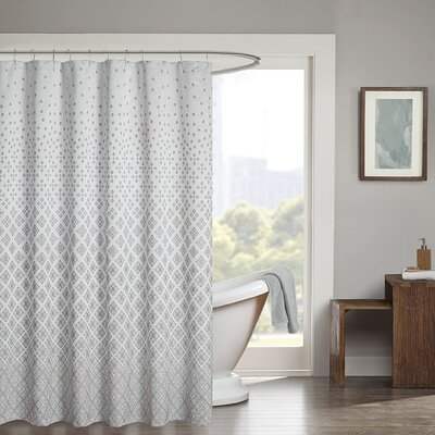 Gold Coast Shower Curtain Color: Silver