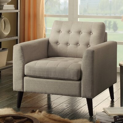 Portishead Tufted Club Chair Color: Beige
