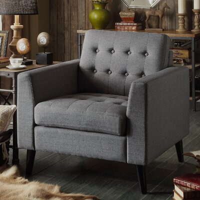 Portishead Tufted Club Chair Color: Gray