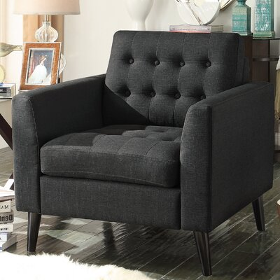Portishead Armchair Upholstery: Charcoal