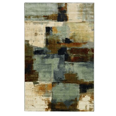 Harlingen Blue/Tan Area Rug Rug Size: Rectangle 5 x 8