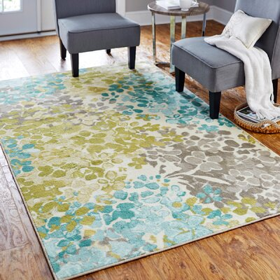 Myia Radiance Blue/Green Area Rug Rug Size: Rectangle 5 x 8
