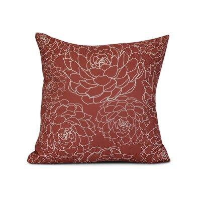 Allen Park Outdoor Throw Pillow Size: 18 H x 18 W x 3 D, Color: Orange