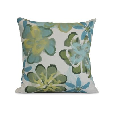 Allen Park Print Throw Pillow Size: 16 H x 16 W x 3 D, Color: Aqua