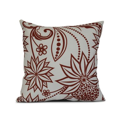 Allen Park Outdoor Throw Pillow Size: 18 H x 18 W x 3 D, Color: Red