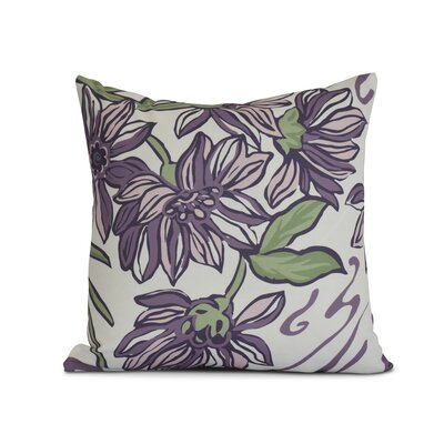 Allen Park Print Throw Pillow Size: 16 H x 16 W x 3 D, Color: Purple