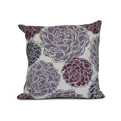 Neville Outdoor Throw Pillow Size: 18 H x 18 W x 3 D, Color: Purple