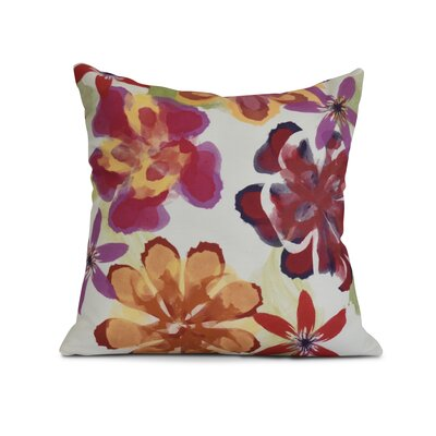 Allen Park Print Throw Pillow Size: 16 H x 16 W x 3 D, Color: Red