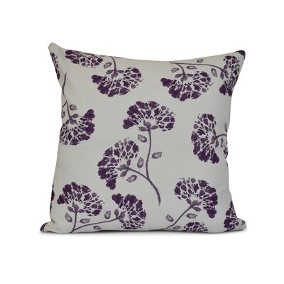 Allen Park Outdoor Throw Pillow Size: 18 H x 18 W x 3 D, Color: Purple
