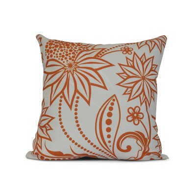 Allen Park Outdoor Throw Pillow Size: 18 H x 18 W x 3 D, Color: Orange