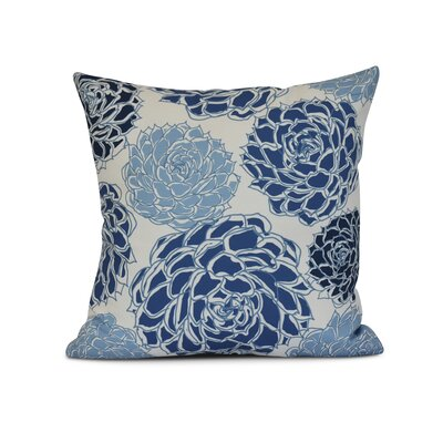 Neville Print Throw Pillow Size: 20 H x 20 W x 3 D, Color: Blue