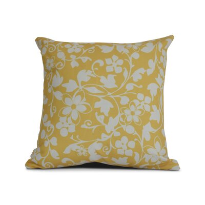 Allen Park Outdoor Throw Pillow Size: 18 H x 18 W x 3 D, Color: Yellow