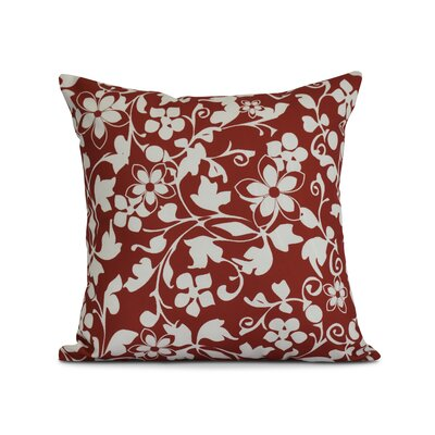 Allen Park Outdoor Throw Pillow Size: 16 H x 16 W x 3 D, Color: Red