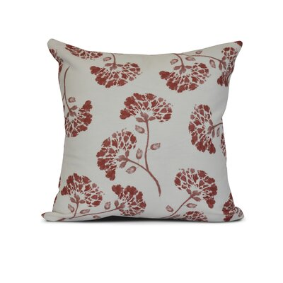 Allen Park Print Throw Pillow Size: 20 H x 20 W x 3 D, Color: Coral
