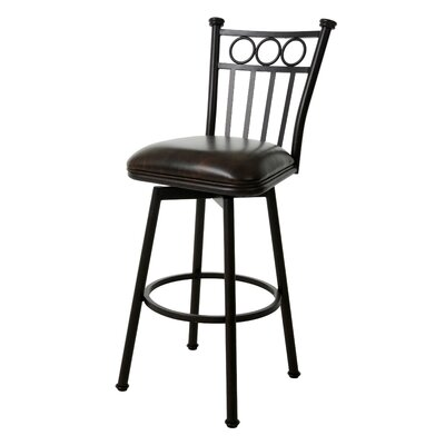 Miramar 30 inch Swivel Bar Stool Finish: Matte Black