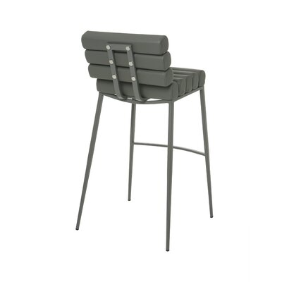 Candlewood 26 inch Bar Stool Upholstery: Gray, Base Finish: BG Matte Gray
