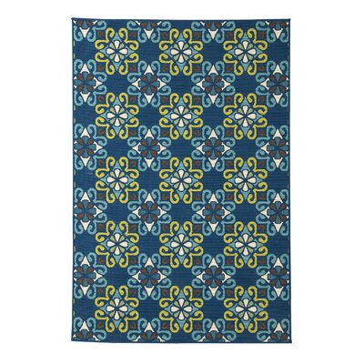 Columbia Navy Blue Indoor/Outdoor Area Rug Rug Size: 53 x 76