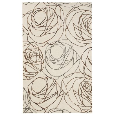 Stoneville Ivory/Brown Area Rug Rug Size: 8 x 10