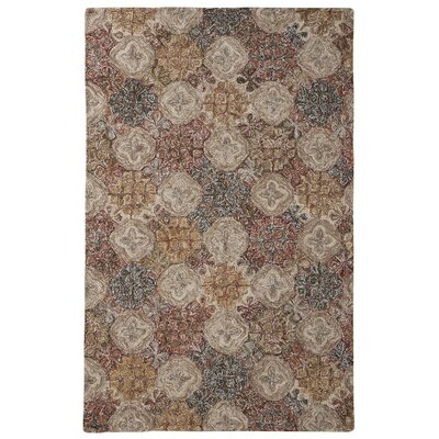 Garrisons Gray/Brown Area Rug Rug Size: 5 x 8
