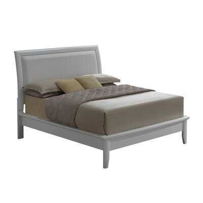 Medford Upholstered Panel Bed Finish: White, Size: Queen