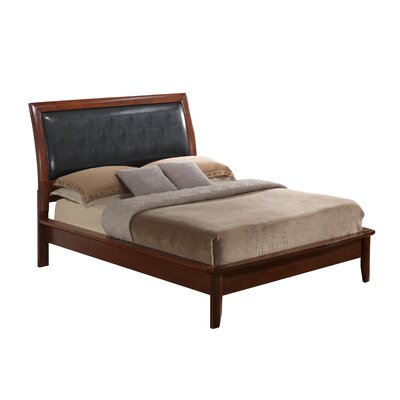 Medford Upholstered Panel Bed Size: Queen, Finish: Cherry