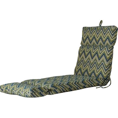 Outdoor Sunbrella Chaise Lounge Cushion Fabric: Fisher Lagoon