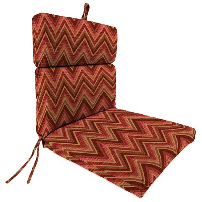 Outdoor Sunbrella Dining Chair Cushion Fabric: Fisher Sunset