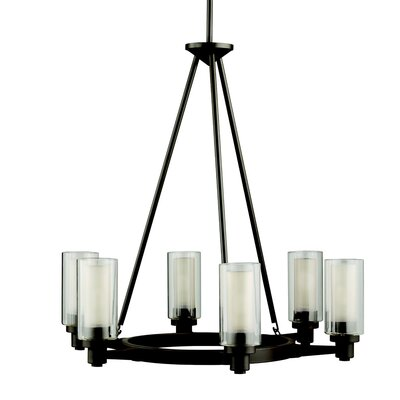 Styx 6-Light Shaded Chandelier Finish: Olde Bronze