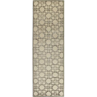 Swilley Hand-Tufted Ivory Area Rug Rug Size: Runner 26 x 8