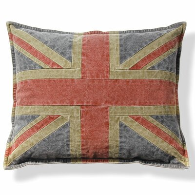 Croydon Union Jack Cotton Throw Pillow (Set of 2)