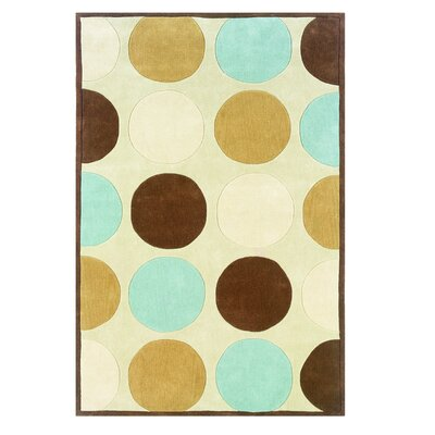 Rouillard Hand-Tufted Tan/Ice Blue Area Rug Rug Size: Rectangle 8 x 10