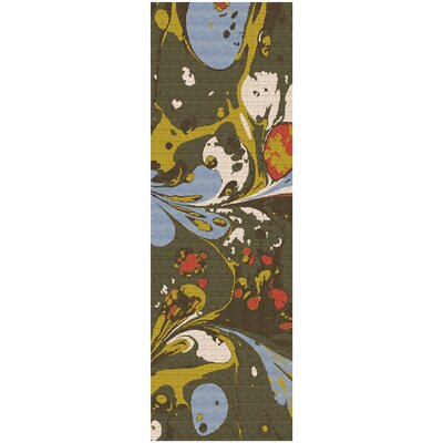 Asheville Green Area Rug Rug Size: Runner 26 x 8