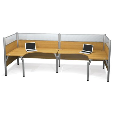 Estes Double Back-to-Back U-Desk Workstation
