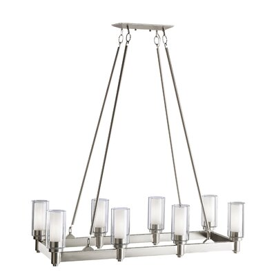Styx 8-Light Kitchen Island Pendant Finish: Brushed Nickel
