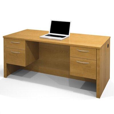 Karyn Computer Desk with Dual Half Pedestals