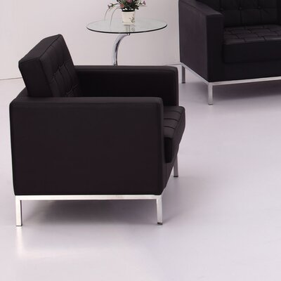 Pyron Contemporary Leather Lounge Chair