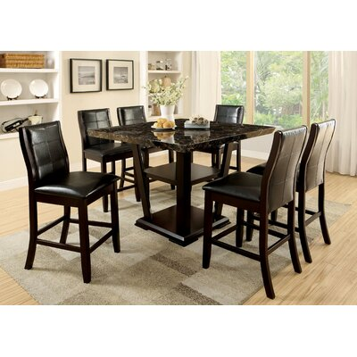 Leo Minor 7 Piece Counter Height Pub Set