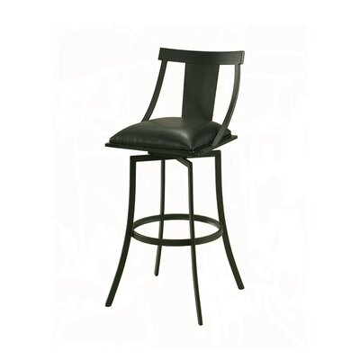 Antlia 27.5 Swivel Bar Stool Finish: Graphite Black, Upholstery: Ford Black