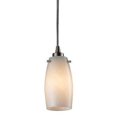 Wobner 1-Light Mini Pendant Bulb Type: 60W Candelabra, Shade Color: Coconut