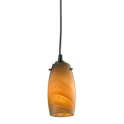Wobner 1-Light Mini Pendant Shade Color: Honey Melon, Bulb Type: 60W Candelabra