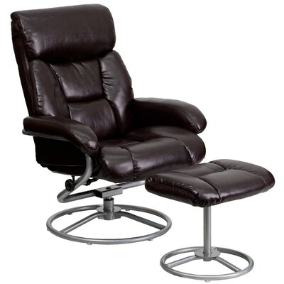 Winnols Recliner and Ottoman Upholstery: Brown