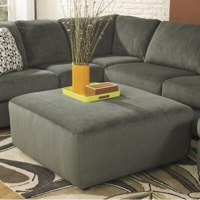 Ossu Oversized Ottoman Upholstery: Gray Green