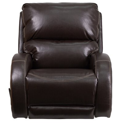 Cephei Leather Rocker Recliner Upholstery: Brown