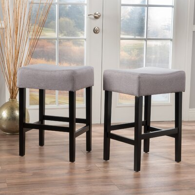 Ingleside 25 Bar Stool Upholstery: Light Gray