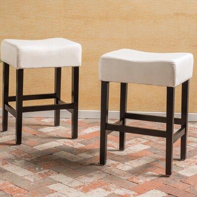 Ingleside 25 inch Bar Stool Upholstery: Beige