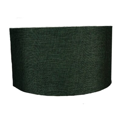 18 Fabrics Drum Lamp Shade Color: Granite Grey Burlap