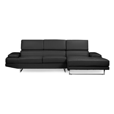 Trower Sectional Upholstery: Black